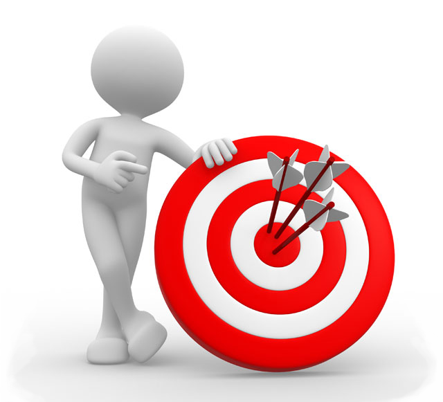 Icon Homepage 2 Man With Target Segmentation Marketing Build Your Brand