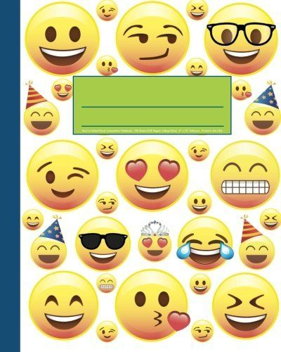 Back to School Emoji Composition Notebook 8\ - Print College Ruled Paper