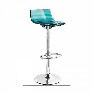 INSIDE75 Tabouret de bar design l'EAU en polycarbonate vert d'eau