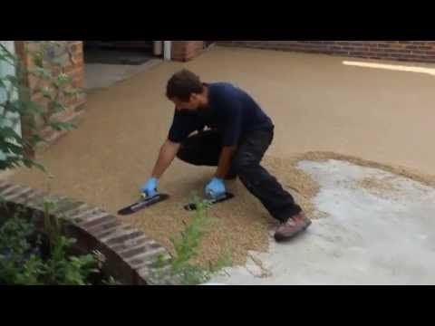 Resin Bonded Driveway Youtube Baby Concrete
