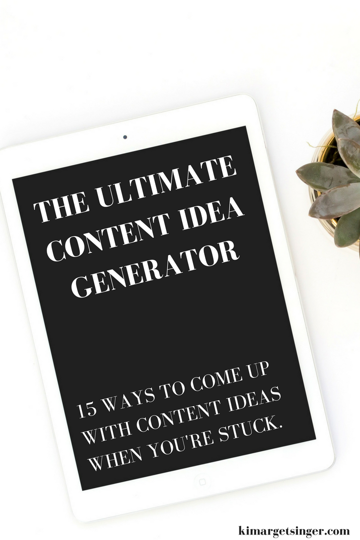 The Ultimate Content Idea Generator Ever Sit Down To Write A Piece Of Content Say A Blog Post Instagram P Entrepreneur Advice Online Business Money Blogging