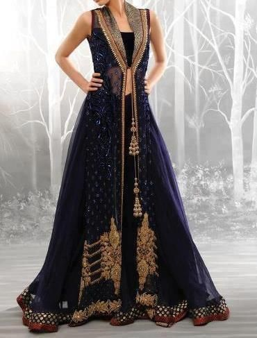 Lengha Hella cute royal blue color - Outfit #desi #indian #pakistani #southasian #fashion