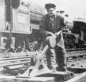 Ferroviarios, cambio de vía,Bs As