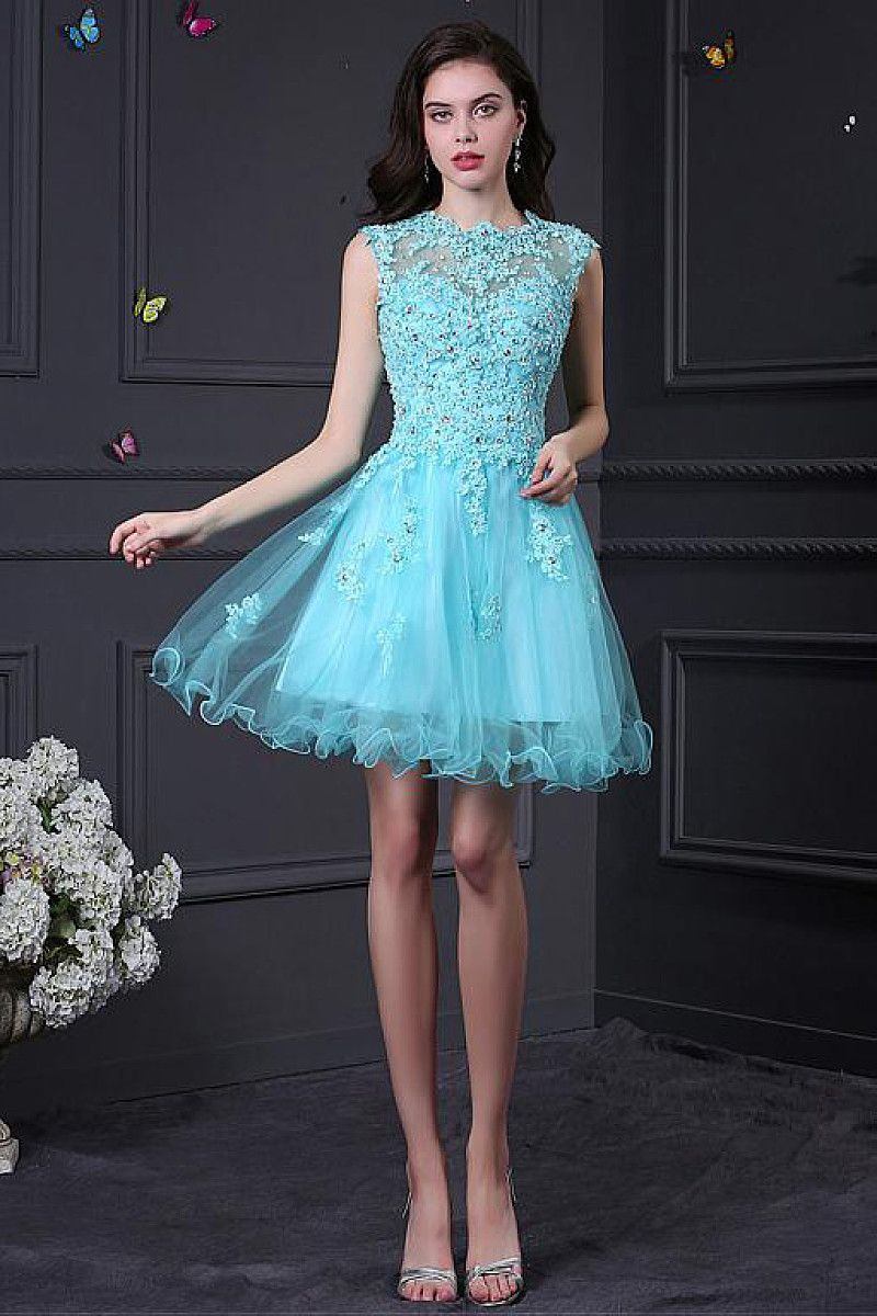Excellent zipper lace shortmini sleeveless cocktail dresses by