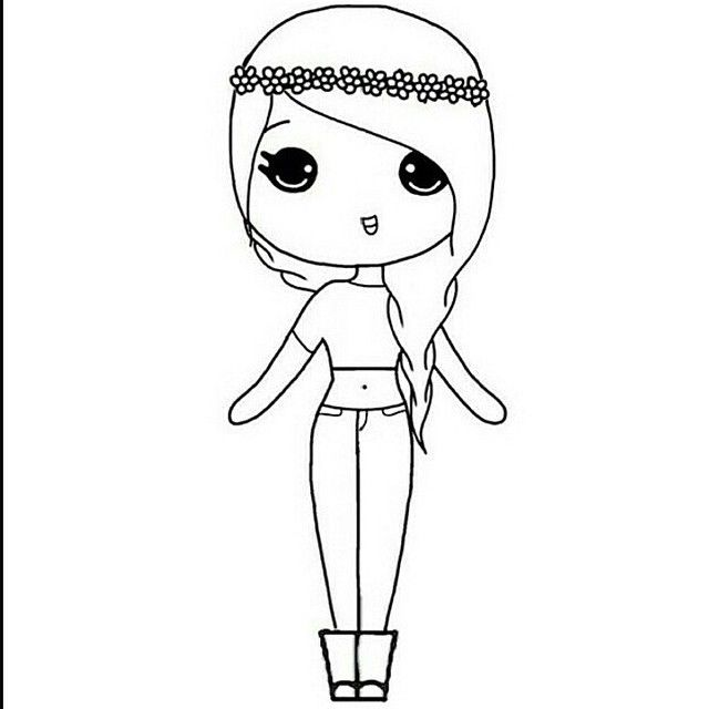 cute people coloring pages - photo#37