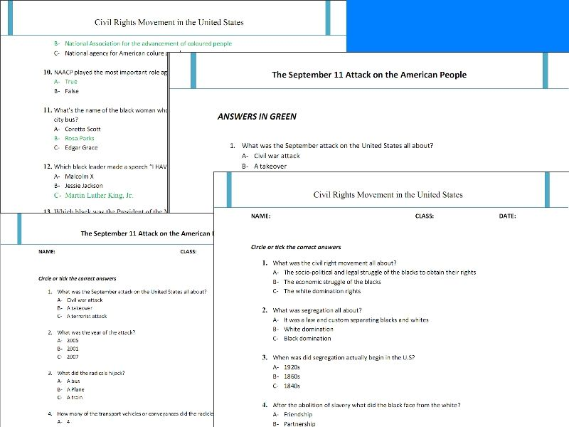 Best super teachers worksheets on Modern American history – Worksheets for Teachers