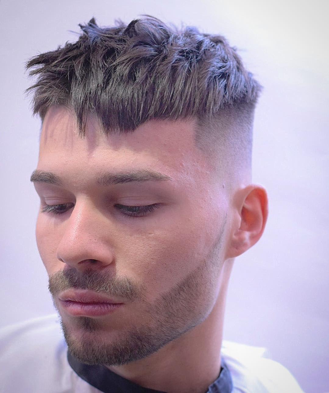 Short Spiky Textured Crop Haircut Mens Long Hairstyles Cool Mens