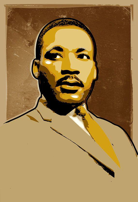 Martin Luther King Art Mlk Art Print Portrait Illustration
