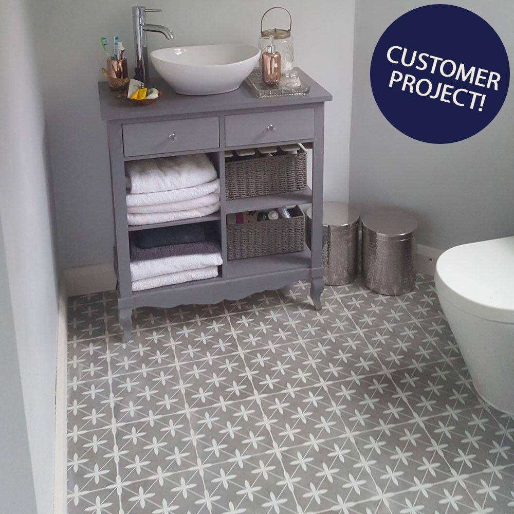 Oakham Grey Pattern Tiles Grey Floor Tiles Grey Painted