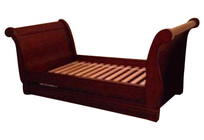 Pottery Barn Mahogany Sleigh Daybed with trundle on