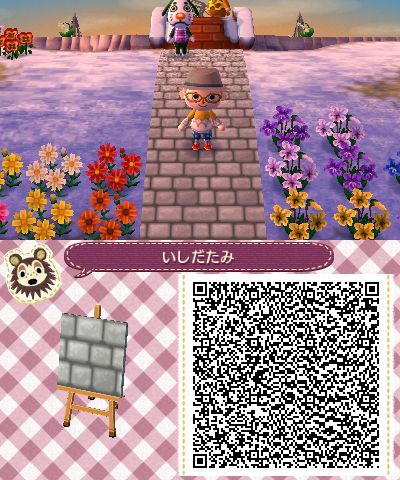 Gray Stone Pavement Animal Crossing Acnl Paths
