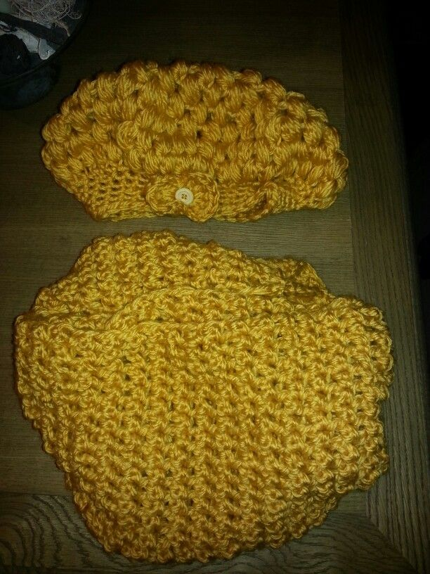 Muts In Ananas Steek En Sjaal In Stretch Steek Eigen Creaties