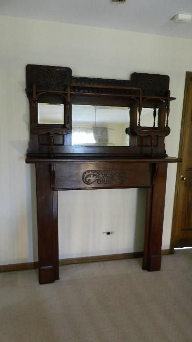 """Found on EstateSales.NET: Mantle from The """"WINDSOR PARK HOTEL"""" circa 1898 from the south shore of Chicago take home a piece of Chicago history!"""