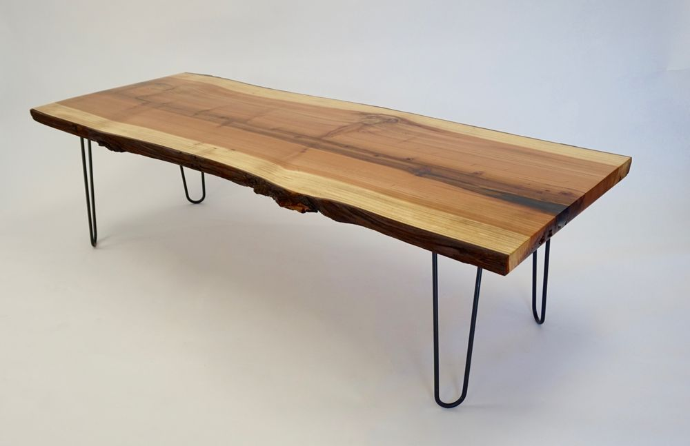 Revelution Furniture. Live Edge (w/ Bark) Solid Redwood ...