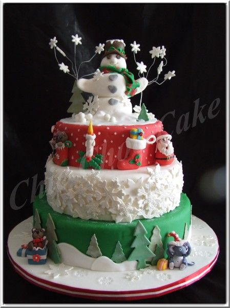 Gateau theme noel