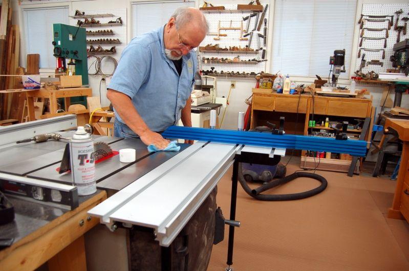 Finishing installation of the sliding table my woodshop pinterest explore sliding table saw blade and more keyboard keysfo Choice Image