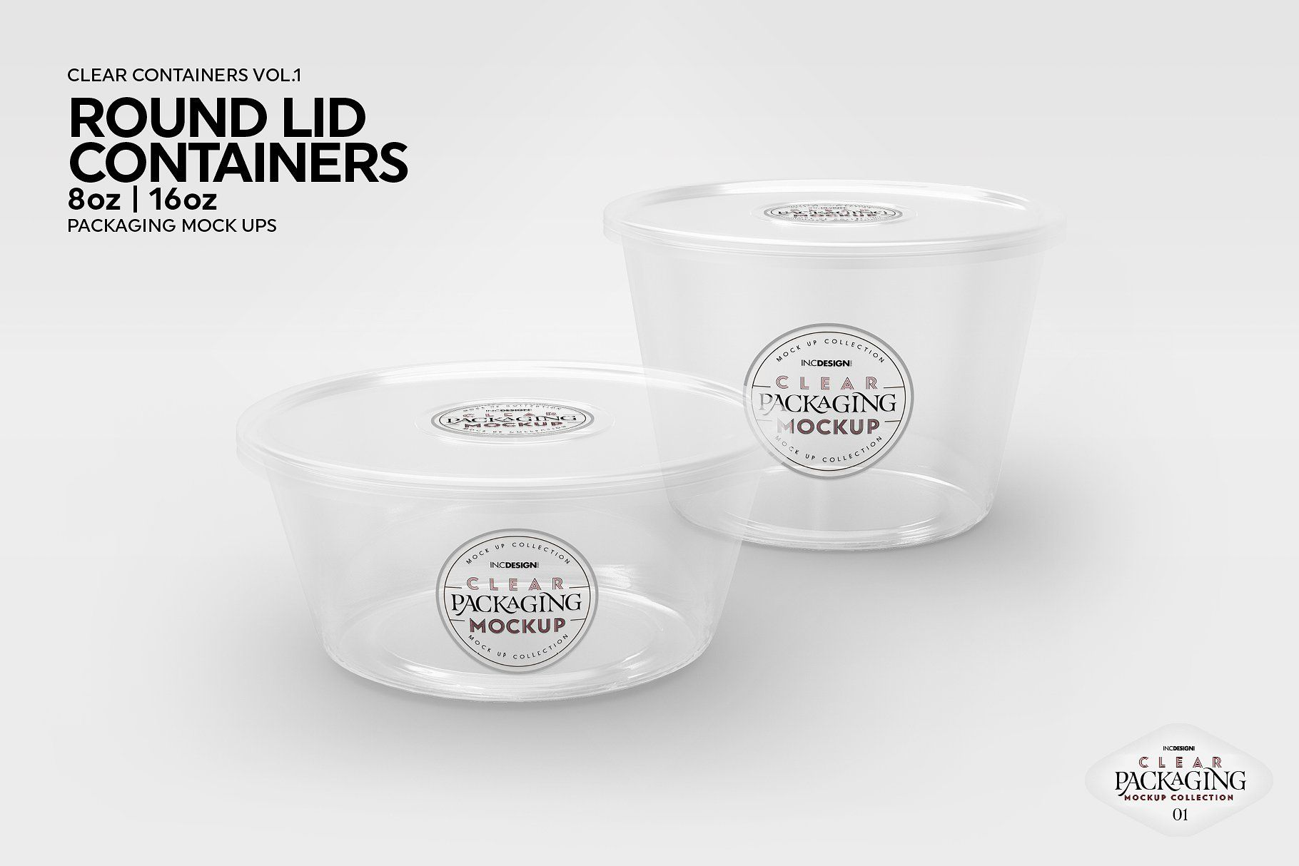 Download 01 Clear Container Packaging Mockups | Packaging mockup ...