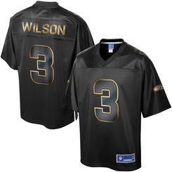 reputable site 45d00 4a09d Men's Seattle Seahawks Russell Wilson Pro Line Black Gold ...