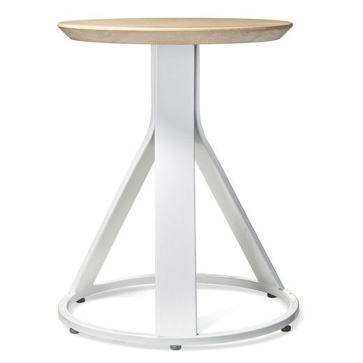 Adjustable Stool White X2f Natural Modern By Dwell Magazine