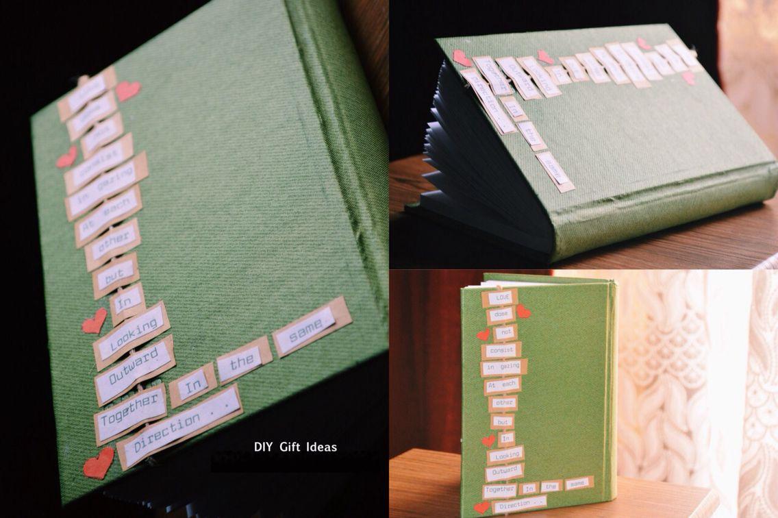 دفتر ذكريات Memories Book Diy Christmas Gifts Diy Gift Handmade Crafts