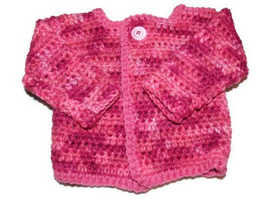 Newborn Girl Pink Cammo Sweater 0 to 3 by MrsSchafferCreations, $20.00