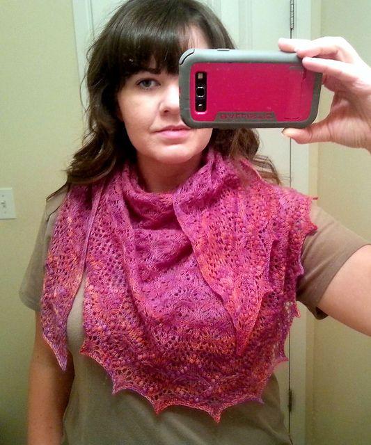 Ravelry Echo Flower Shawl Free Knitting Pattern My Knitting And