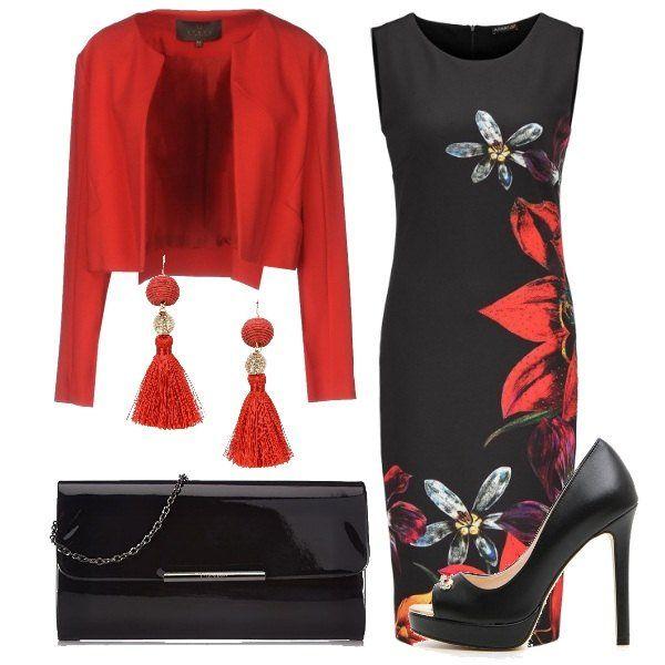 15c53bcf5d9c Il rosso che incanta  outfit donna Chic per serata fuori