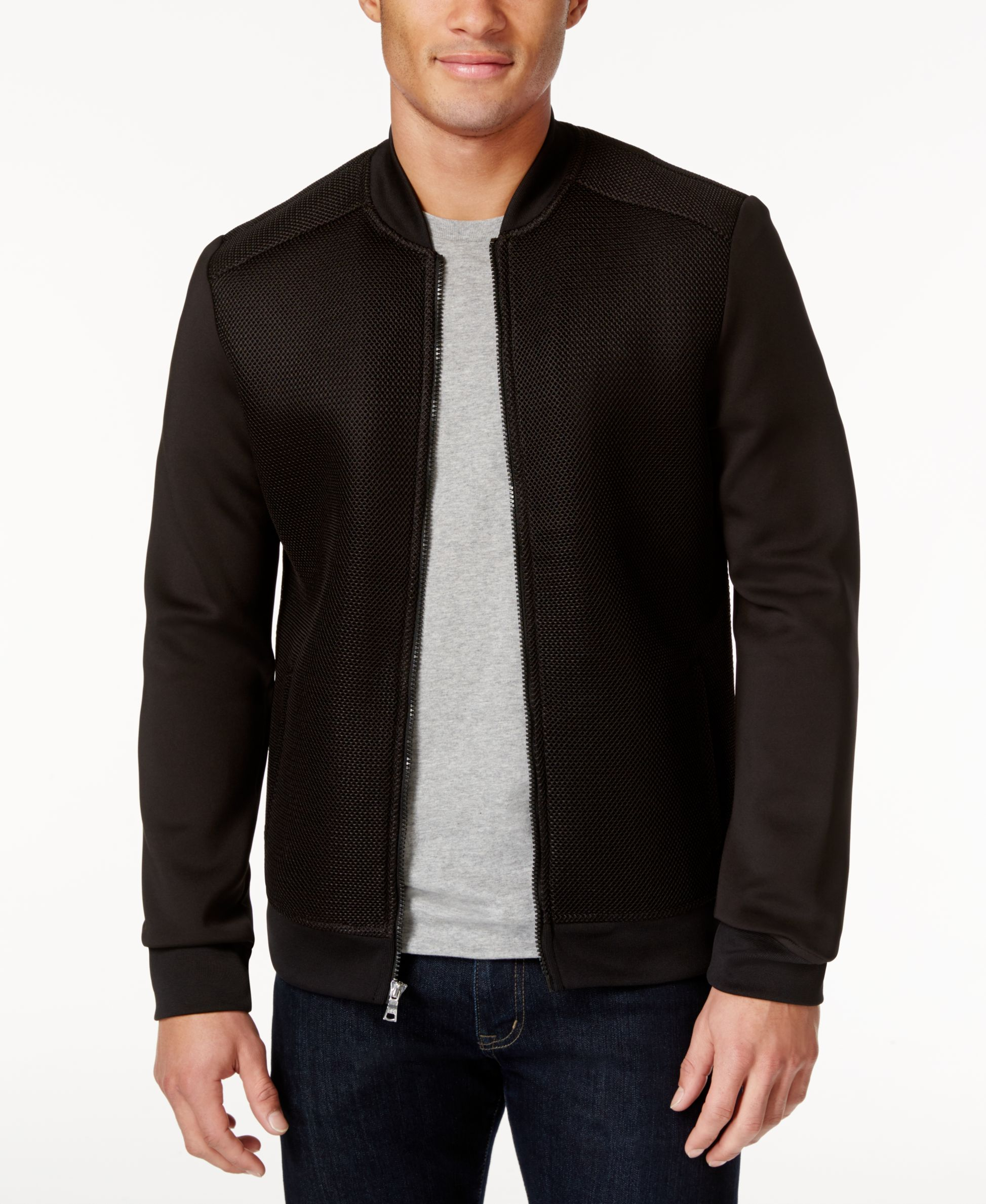 Inc International Concepts Men S Mesh Bomber Jacket Only At Macy S Coats Jackets Men Macy S In 2021 Mens Jackets Bomber Jacket Men Sweater [ 2378 x 1947 Pixel ]