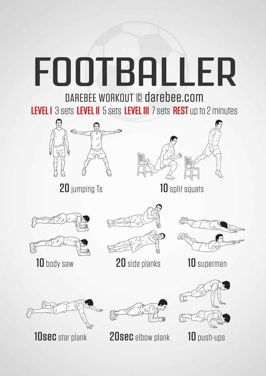 Footballer Workout Football Workouts Soccer Workouts Superhero Workout