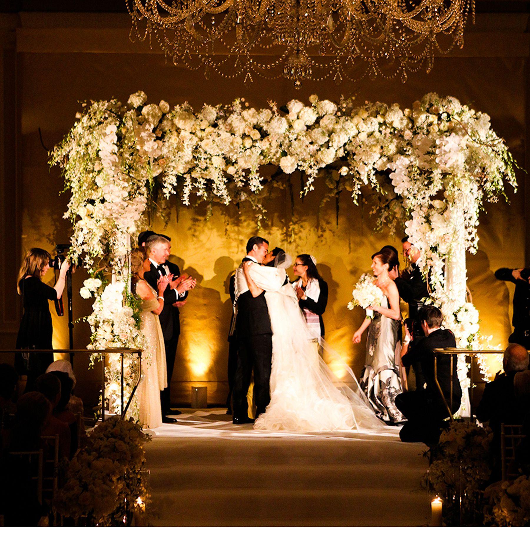 Jewish Wedding Altar Hopa: Classic Uptown Wedding