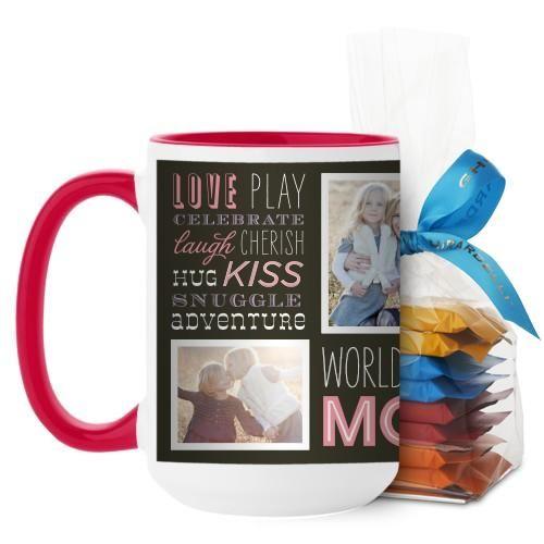 Wordplay Mom Mug, Red, with Ghirardelli Minis, 15 oz