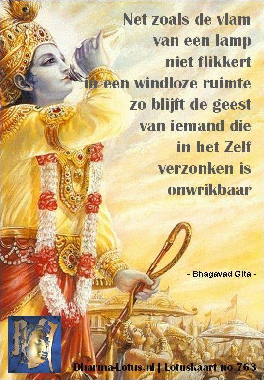Citaten Uit Bhagavad Gita : Lotuskaart bhagavad gita spreuken lotus