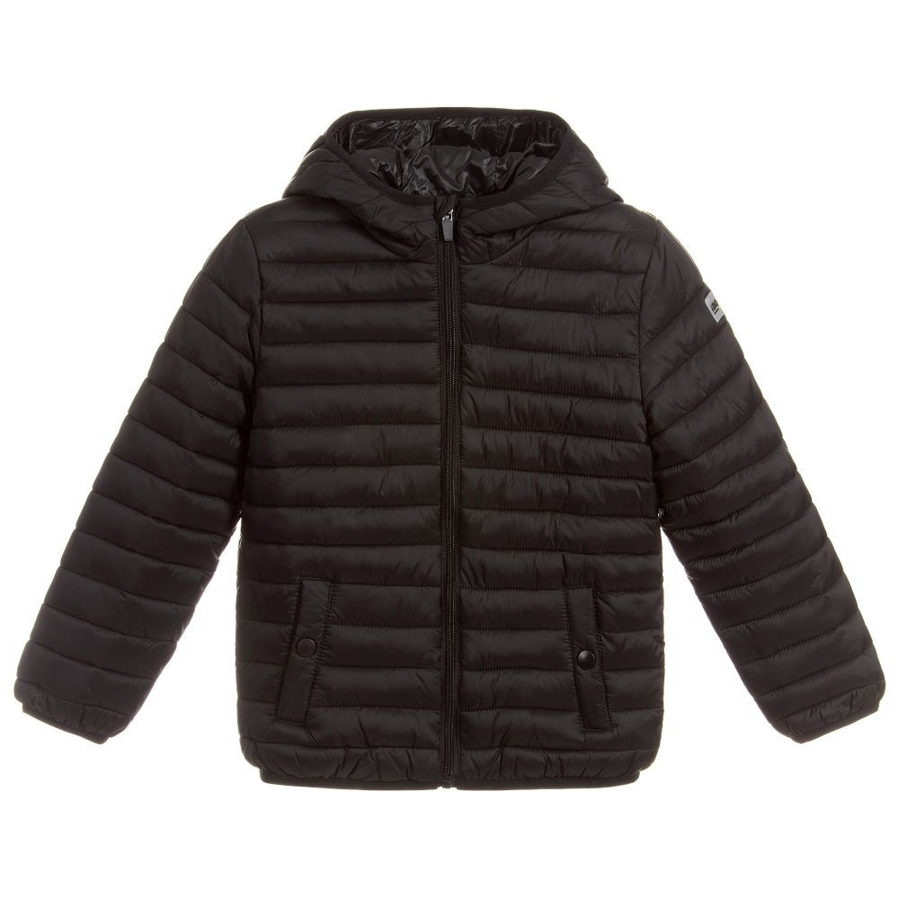 40112450d Boys Black Puffer Jacket for Boy by iDO Junior. Discover the latest designer  Coats & Jackets for kids online