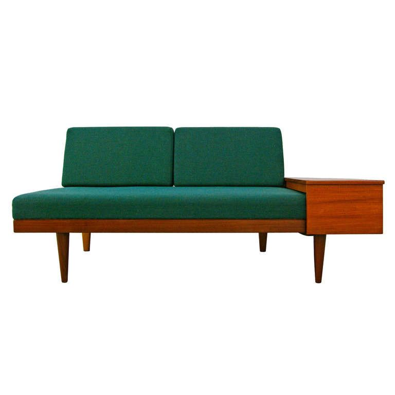 Sofa Daybed By Swane Norway Teak Midcentury Modern 60s Table