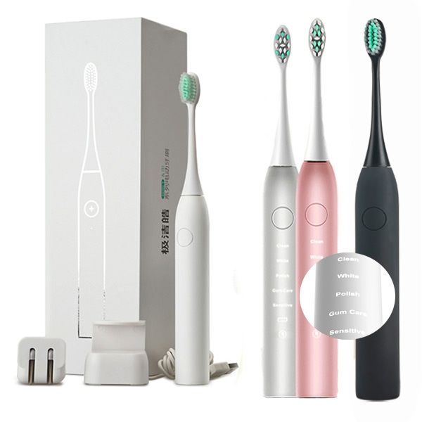 JUNJIADA Sonic Pulse Electric Toothbrush Cleaning Whitening Soft ...