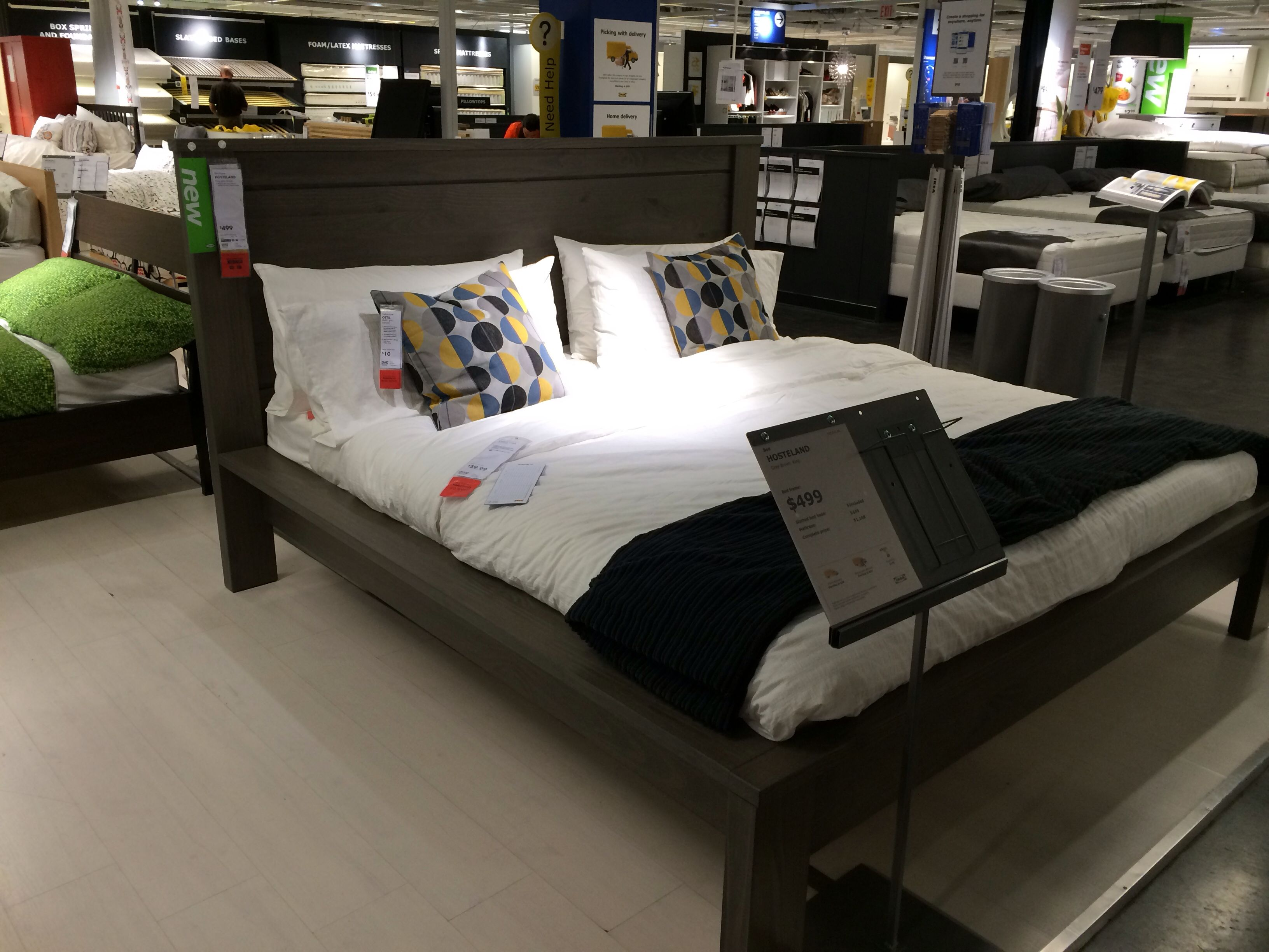 Boho Chic Bedroom IKEA Hosteland King Sized Bed In Gray Brown