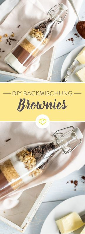 DIY Backmischung im Glas: Supersaftige Brownies