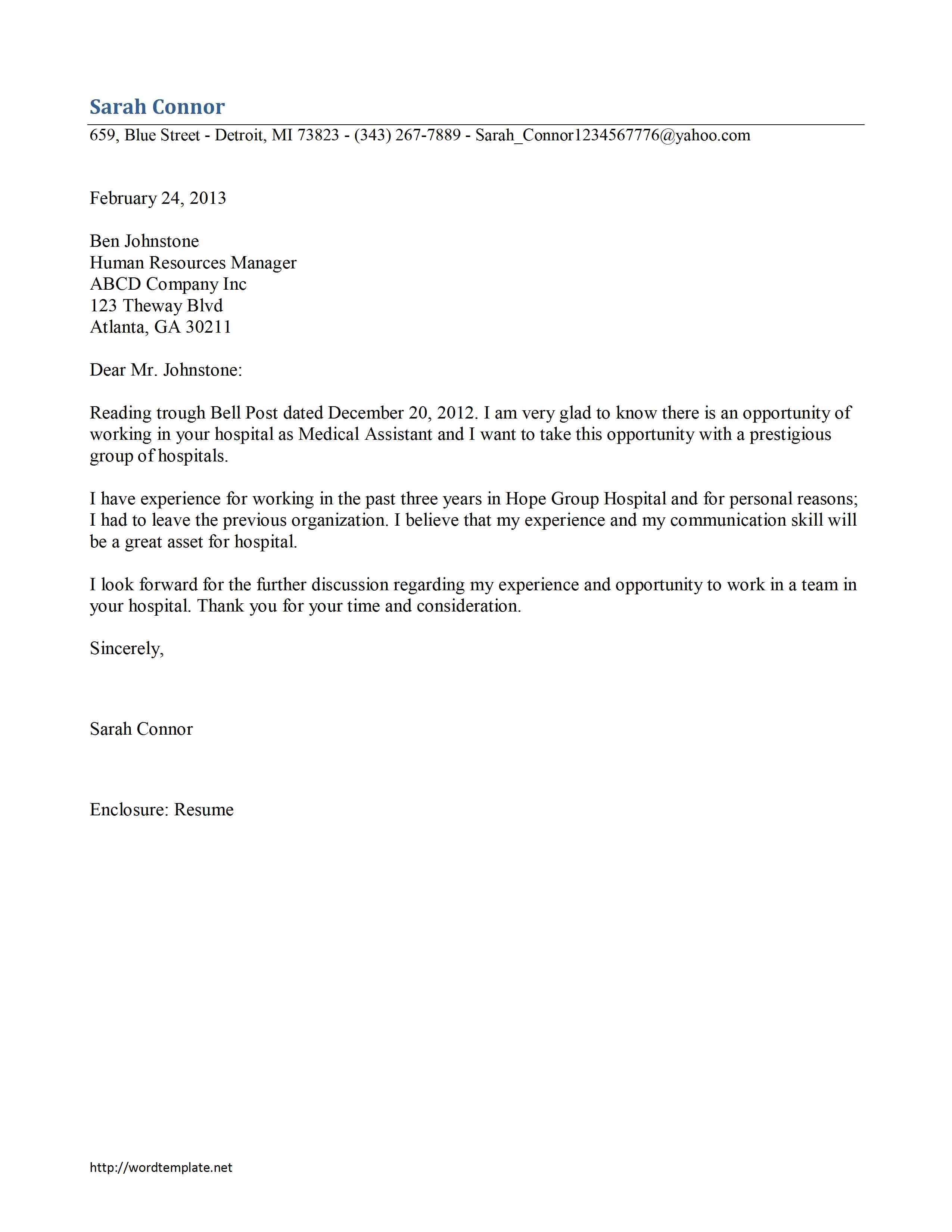 Reference Letter Template Open Office Http Www Resumecareer