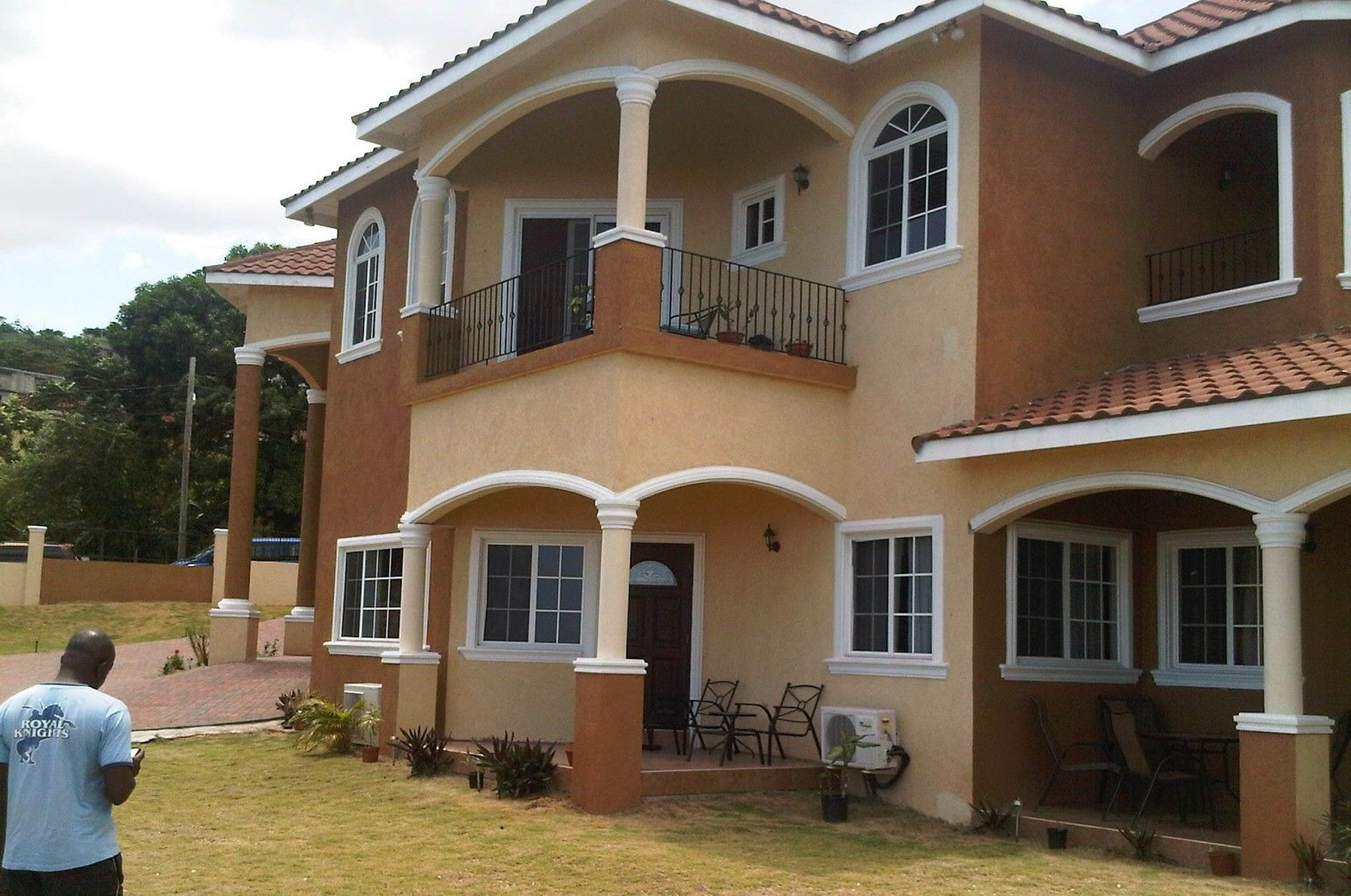 Jamaican House Plans In 2020 Kerala House Design Two Story House Design Cool House Designs