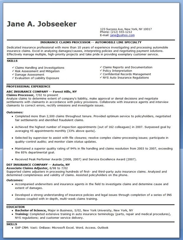 Insurance Claims Processor Resume Examples Resume Downloads Resume Examples Teaching Resume Examples Resume