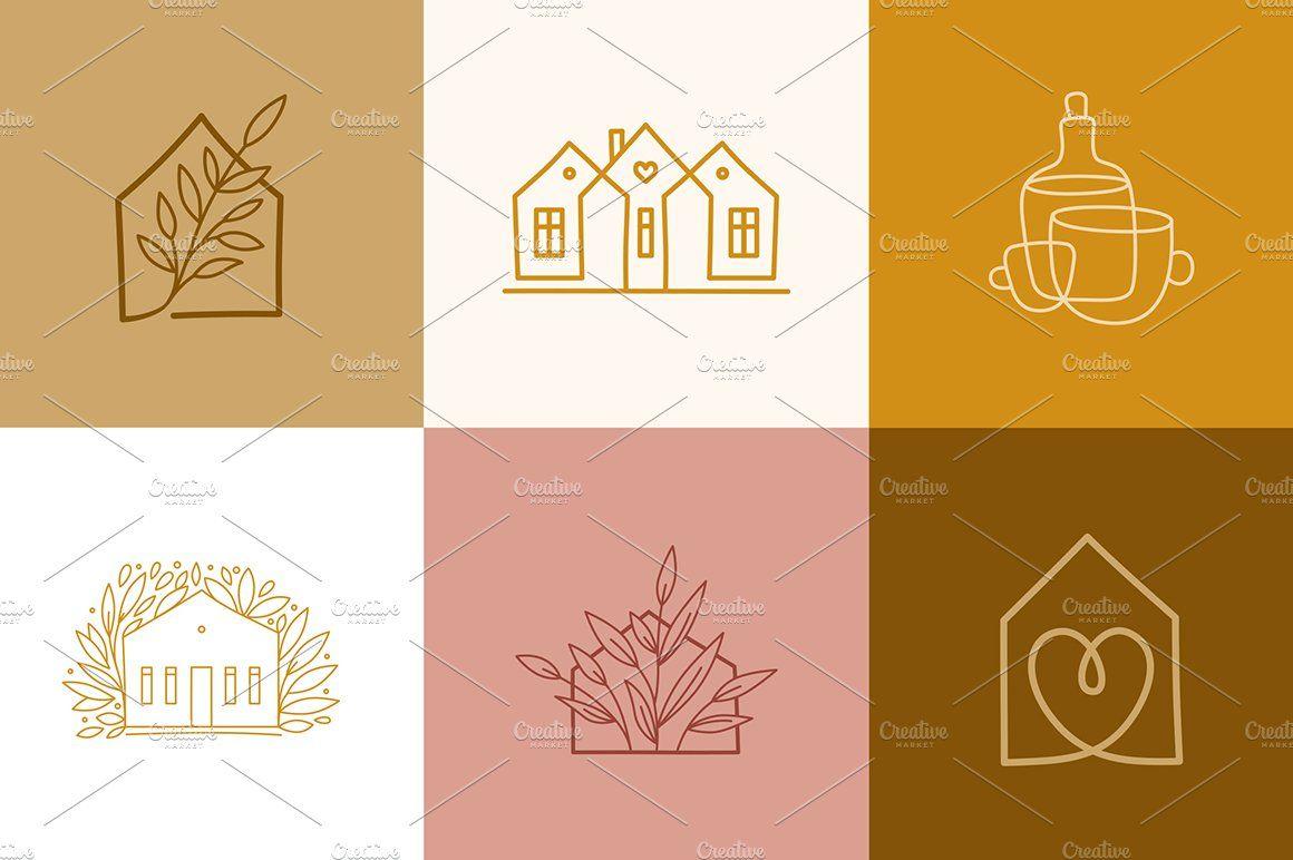 12 Home Decor Logos Decor Logo Logo Design Creative Vector Logo Design