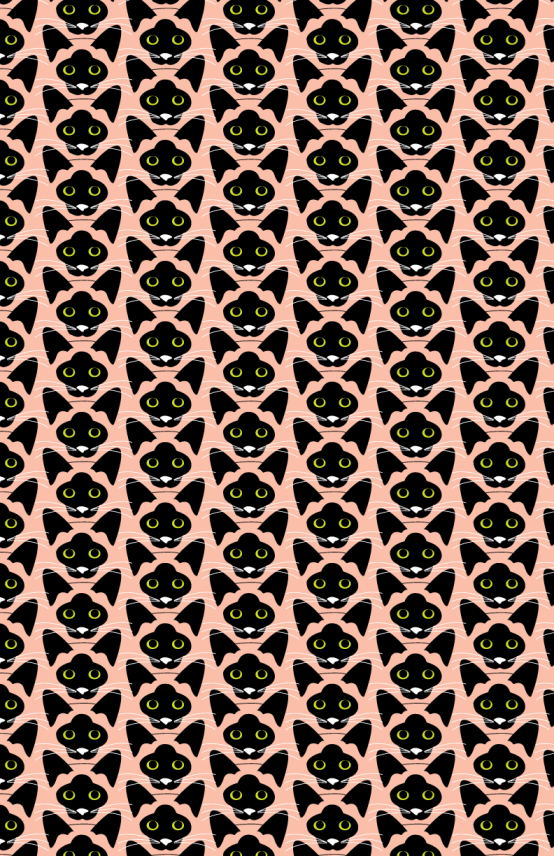 Pattern gatos siameses.