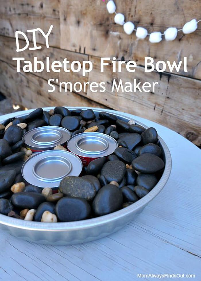 17 Easy To Make Diy Table Top Fire Bowls Tabletop Fire Bowl Fire Bowls Small Fire Pit