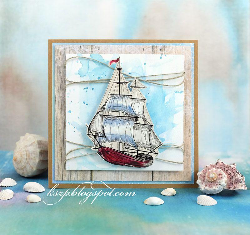 Рисунок корабль открытка