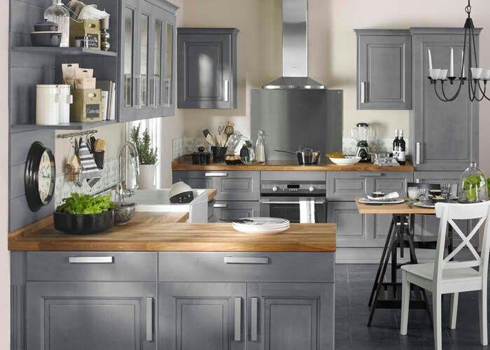 Fliesen Türen im Schrank Küche Pinterest Gray kitchens - kleine küchenzeile mit elektrogeräten