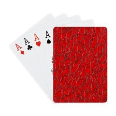 Red Cracked Leather Playing Cards - family game night #playingcards