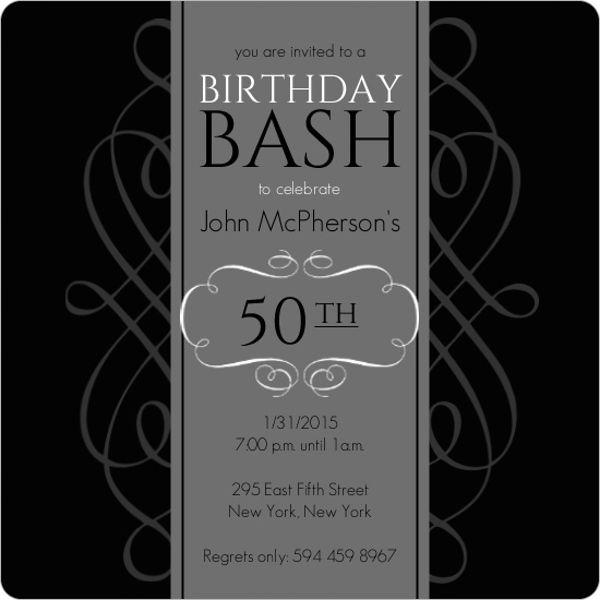Black and grey formal soiree 50th birthday invite from invite shop black and grey formal soiree 50th birthday invite from invite shop 50thbirthdayinvitations 50thbirthdaypartyideas stopboris Images