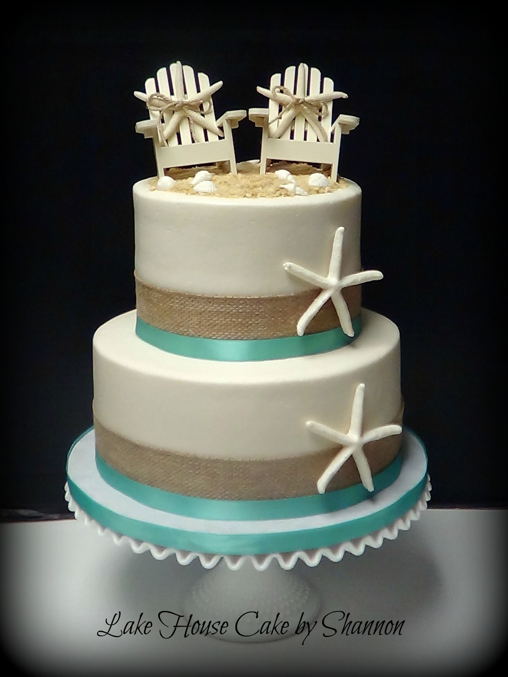 Wedding cake beach themed burlap buttercream starfish beach wedding cake beach themed burlap buttercream starfish beach chairs seashells sea junglespirit Choice Image