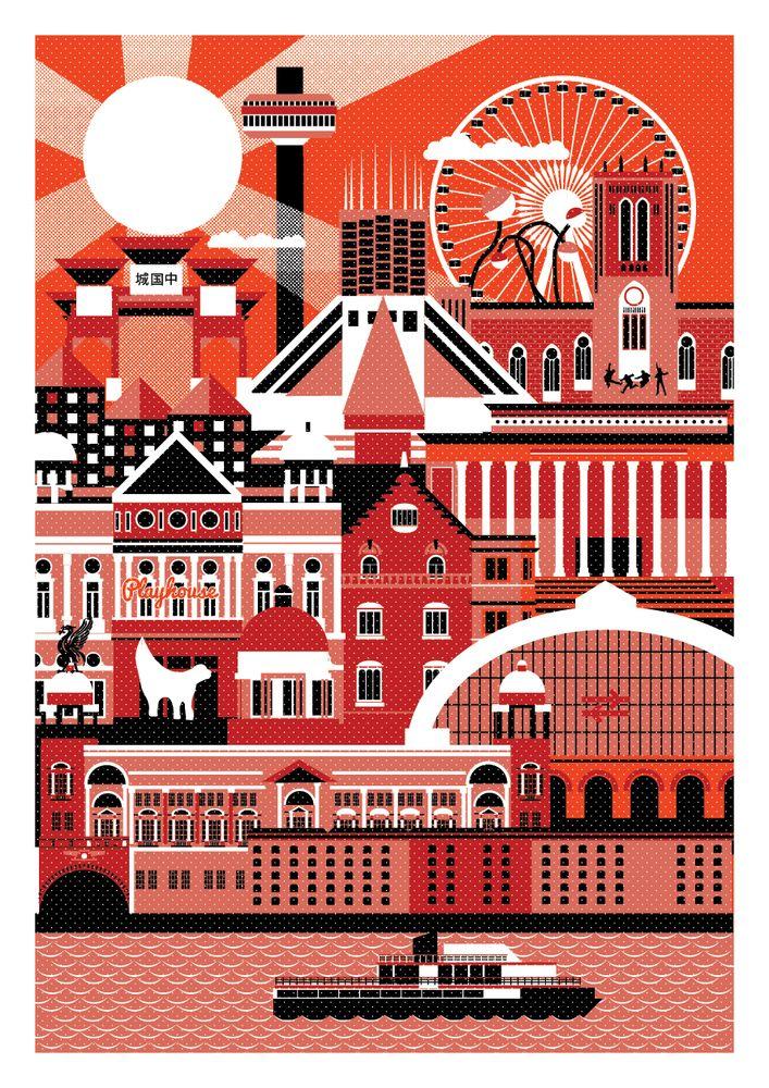 Liverpool - City Art Prints by Horse Studio {bloodandthunder.bigcartel.com}