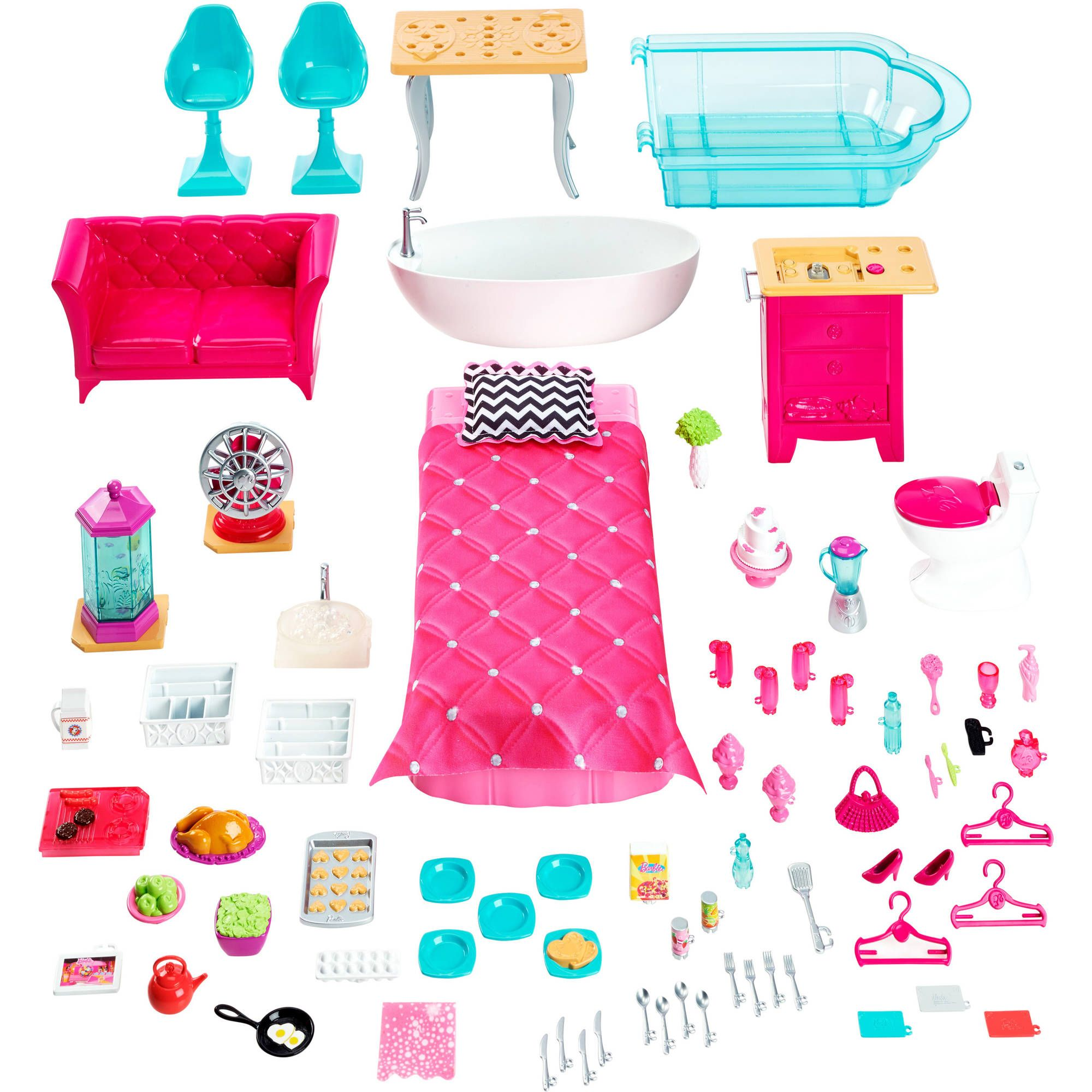Barbie Dreamhouse  Walmartcom Barbie Accessoriesdiy Dollhousebarbie